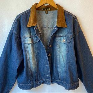 Vintage 90s Denim Cropped Jacket size 2XL